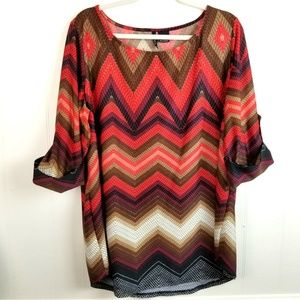 New Directions Plus Slinky Stretch Knit Blouse